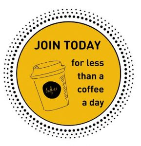 Join Today for less than a cup of coffee
