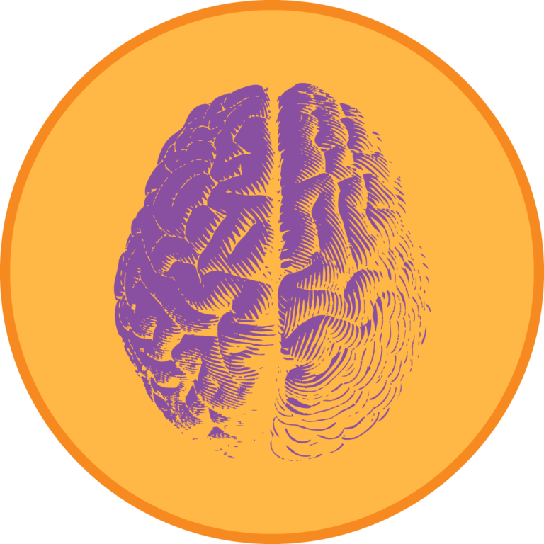 Decision Science | Brain Graphic - Circle Frame
