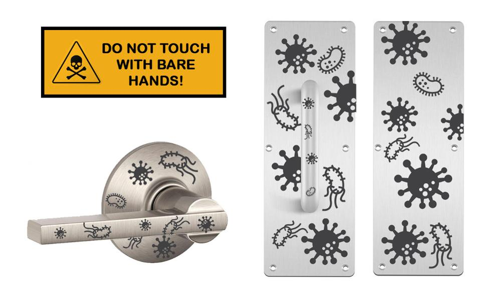 Do Not Touch With Bare Hands (Diagram)